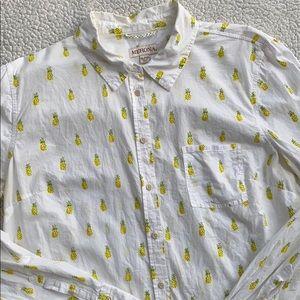 Pineapple Merona Button Down Shirt XL